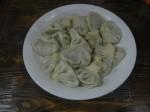 Chinkali: Mit Hackfleisch und Koriander gefüllte Nudelteigtaschen Georgisches Nationalgericht, was gerne als Frühstück gegessen wird.