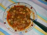 Bamia: Eintopf mit Tomate, Okra und Rind oder Lammfleisch (auch mit Kartoffel und Möhren).