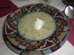 Begova čorba: Mehlige Suppe mit Okra, Suppengemüse (manchmal mit Hähnchenfleisch)