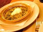 čušpajz: Spinat mit Milch, Butter und Reis