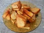 Sukun: Frittierte Stücke des Brotfruchtbaums