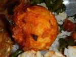 Telur Balado: Frittietes Ei mit scharfem Sambal (Chili Paste). Eine häufige Beilage.